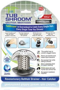 5. TubShroom Bath Tub Drain Protector Hair
