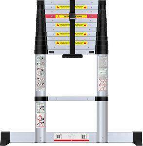 5. WolfWise 12.5 feet Aluminum Telescoping Ladder