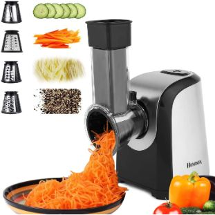 6. Homdox Salad Shooter Electric Slicer, One-Touch Control