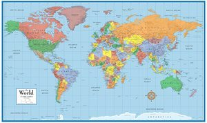 7. 24x36 World Classic Wall Map Poster Paper Folded