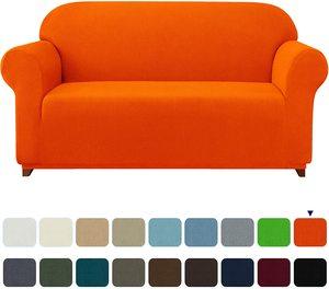 9. subrtex Stretch Sofa Cover 1-Piece Couch Slipcover