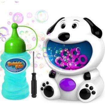 1. WisToyz Bubble Machine Dog Bubble Blower