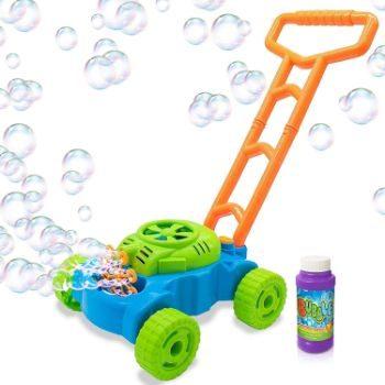6. ArtCreativity Bubble Lawn Mower - Electronic Bubble Blower Machine