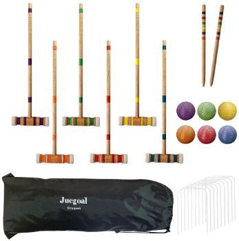 #1. Juegoal Siax Player Croquet Set