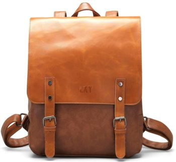 1. LXY Vegan Leather Backpack, Travel Daypack