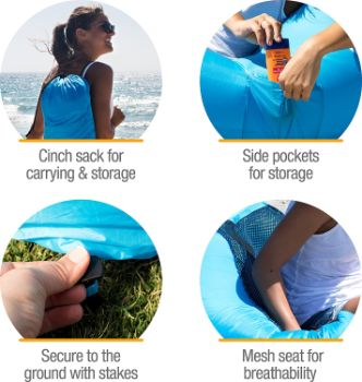 10. CleverMade Inflatable Lounger Air Chair