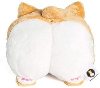 10. Nayothecorgi Corgi Butt Super Soft Car Neck Pillow