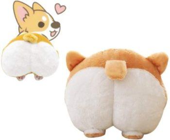 11. Waty Corgi Butt Dog Plush Pillow, Cute Animal Appearance