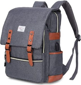 2. Modoker Vintage Laptop Backpack for Men