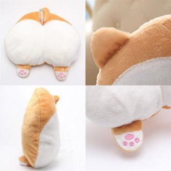 3. Diniiko Corgi Butt Cushion, Throw Pillow