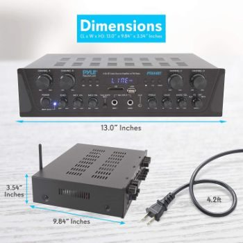 3. Pyle PTA44BT Bluetooth Amplifier