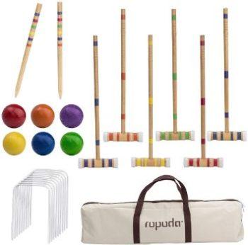 #3. ROPODA Six-Player Croquet Set