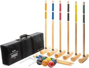#4. Franklin Sports Croquet Set