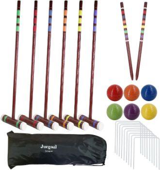 #5. Juegoal Six Player Deluxe Croquet Set