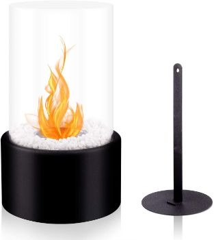 #6. BRIAN & DANY Ventless Tabletop Fireplace