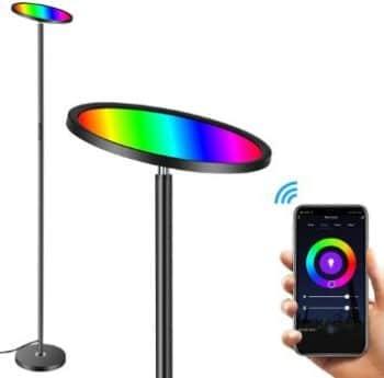 #6. Hueliv RGBW Smart Wi-Fi LED Floor Lamp
