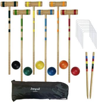 #6. Juegoal Upgrade Six Player Croquet Set