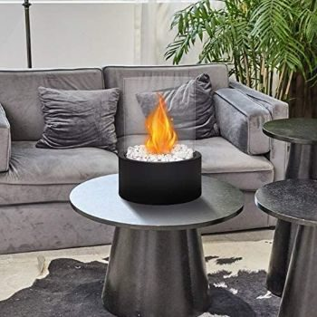 #7. JHY DESIGN Tabletop Fire Bowl Pot [Extra Large Black]