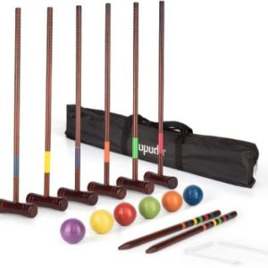 #7. ROPODA Six-Player Deluxe Croquet Set