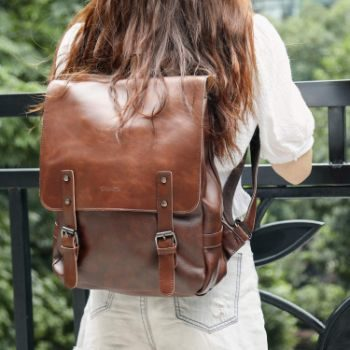 7. Zebella Vintage Faux Leather Backpack