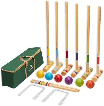 #8. ApudArmis Six Player Croquet Set