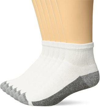 #8. Hanes Men's ComfortBlend Ankle Socks, 6 Pack