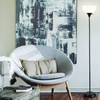 #8. Newhouse Lighting Torchiere Floor Lamp