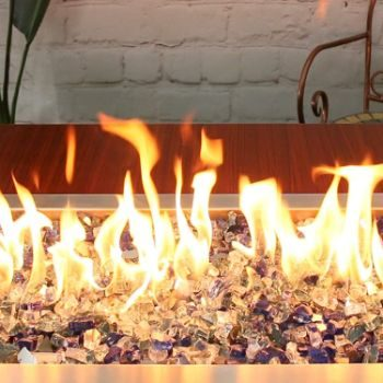 #8. Qulimetal Fire Glass for Indoor Outdoor Fireplaces