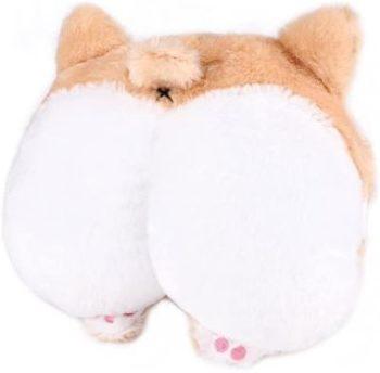 8. RUTICH Corgi Butt Car Neck Pillow