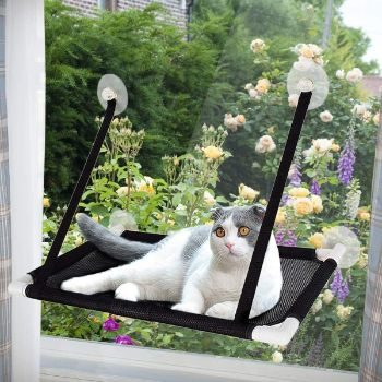 #8. Tempcore Cat Window Perch, Cat Hammock