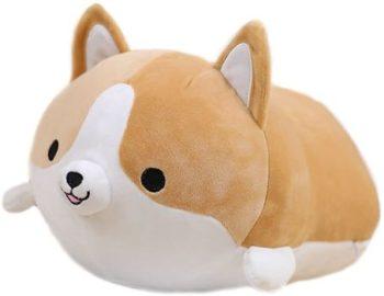 9. Cute Funny Corgi Dog Butt Plush Pillows Soft Toys