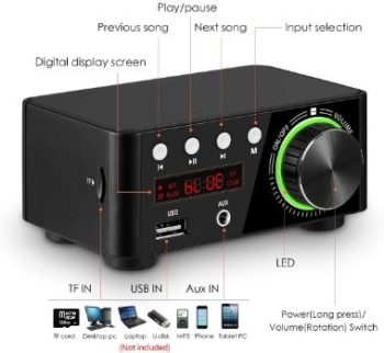 9. Nobsound Mini Bluetooth 5.0 Amplifier