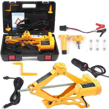 4. All-in-one Automatic 12V Scissor Lift Jack Set