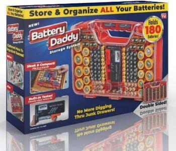 2. Ontel Battery Daddy, 180 Battery Organizer