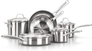 3. Calphalon Classic Pots And Pans Set, 10 pieces
