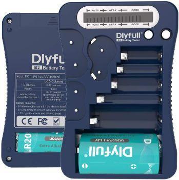 4. Dlyfull LCD Display Universal Battery Checker