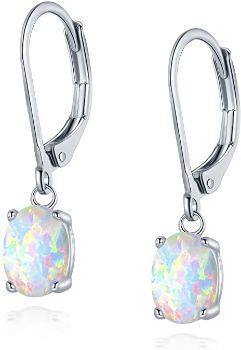 1. Opal Leveback Earrings for Women and Girls