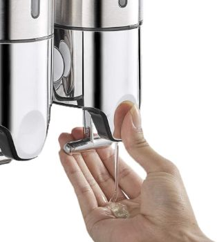 2. Manual Liquid Dispenser - Silver 2 Chamber
