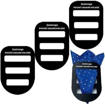 3. Jeatonge Pocket Square Holder (3 Pcs)