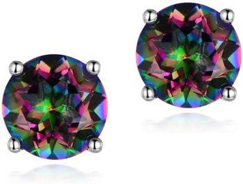 6. Hypoallergenic Rainbow Quartz Earrings