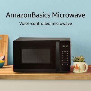 #1. mazonBasics Microwave