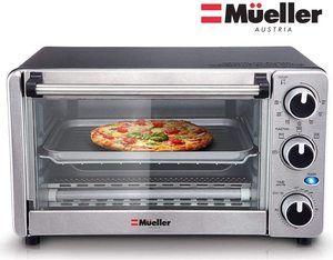 #2. Mueller Austria Toaster Oven 4 Slice, Multi-function