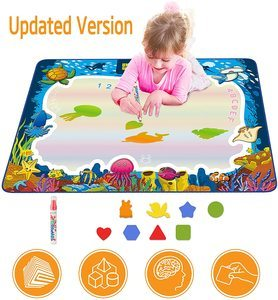 #6. Hierceson Aqua Drawing Mat for Kids