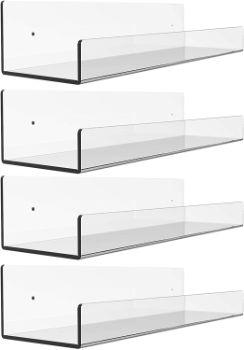 #10. Cq acrylic Floating Shelf