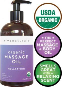 #5. Viva Naturals Certified Organic Massage Oil