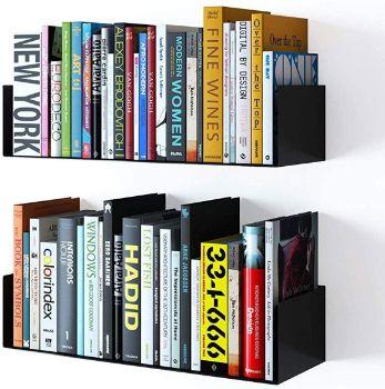 #6. Wallniture Floating Wall Mount Shelf Book